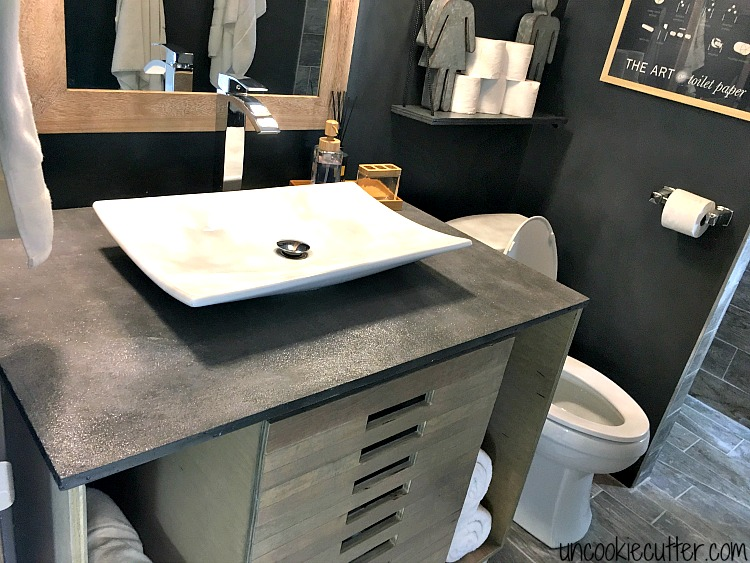 vanity top made from concrete diy for