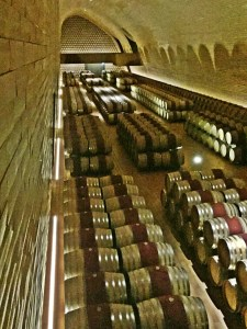 Under vineyard barrel cellar