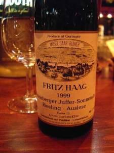 Fritz Haag 1999 Brauneberger Juffer-Sonnenuhr Riesling Auslese - Licence by Puamella