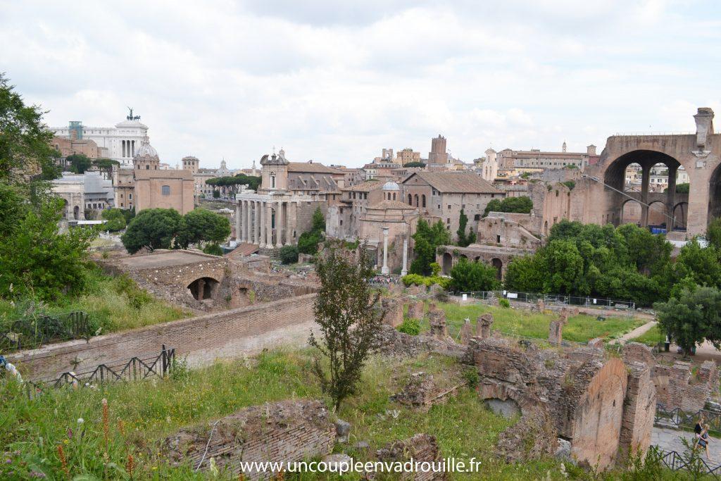 Le Mont Palatin & le forum Romain à Rome