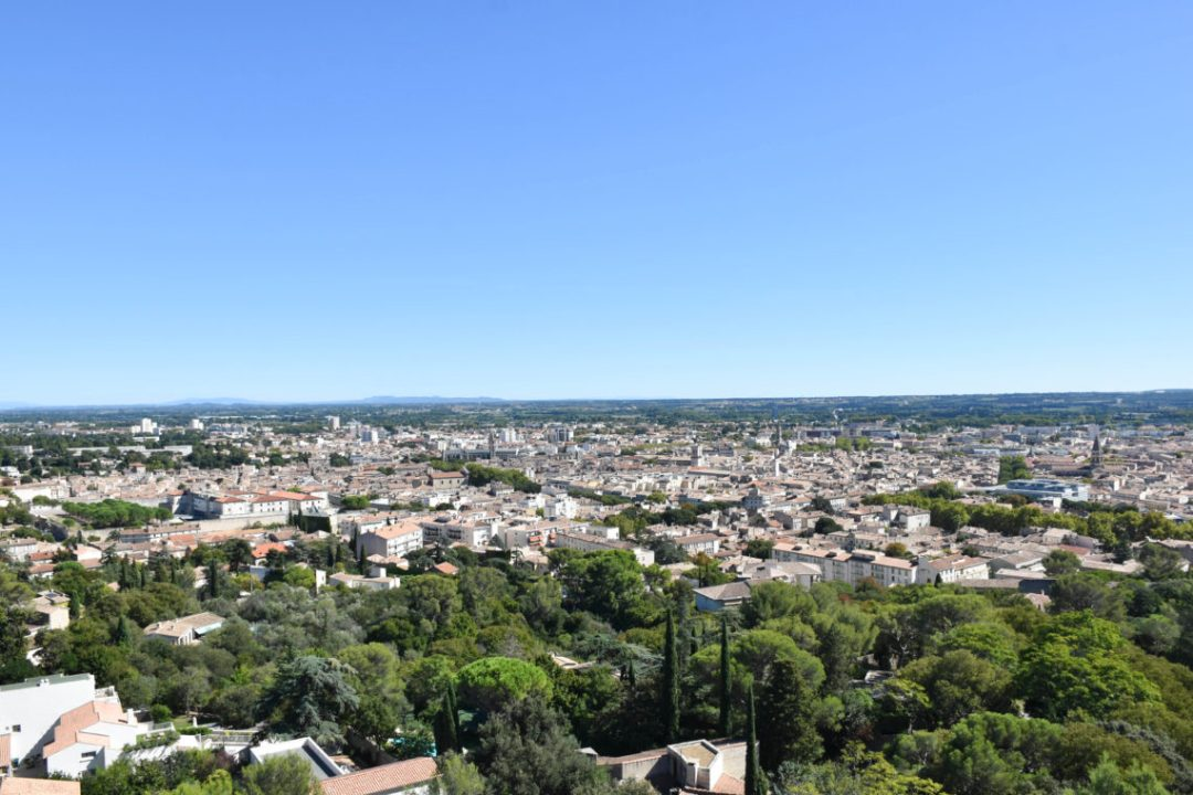 Vue depuis la Tour Magne à Nimes