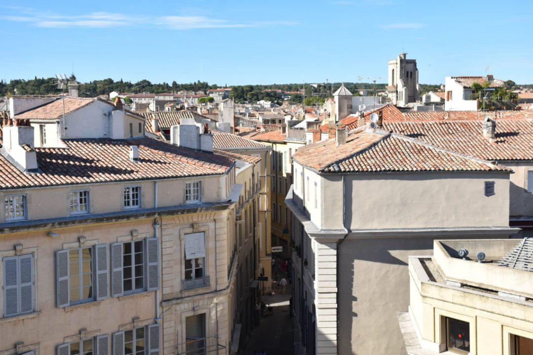 Vue sur la ville de Nîmes depuis le haut des Arènes de Nîmes