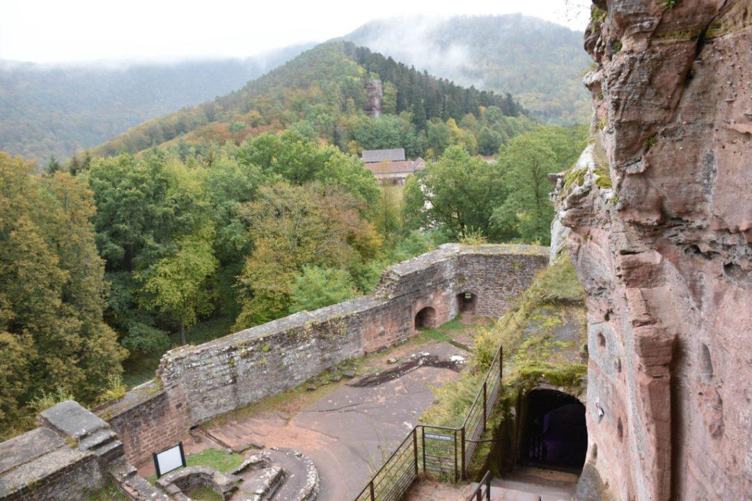 Intérieur du Château fort de Fleckenstein en Alsace du Nord