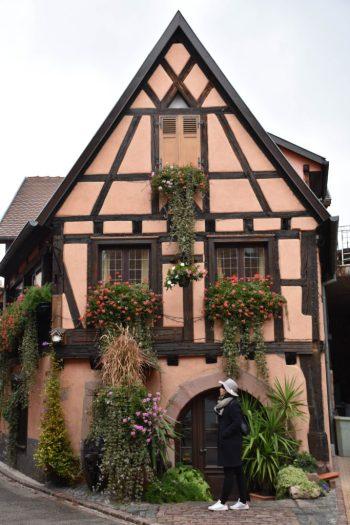 Maison à colombage dans la ville de Bergheim