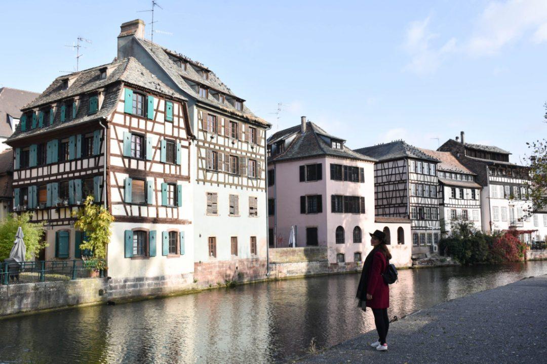 Quartier de la Petite France et ses maisons à colombages à Strasbourg