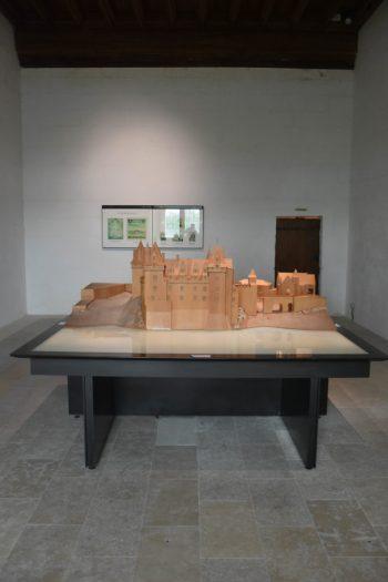 Maquette du chateau de Montsoreau