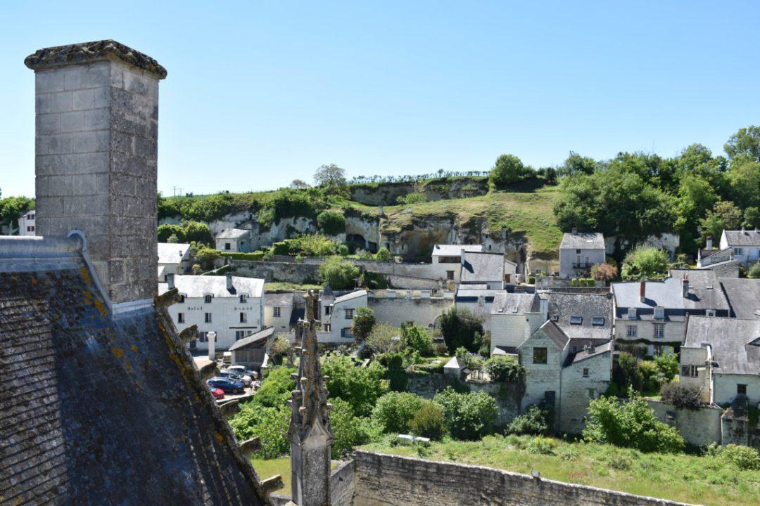 Vue depuis les toits du chateau de Montsoreau