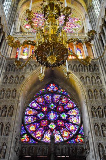 Intérieur de la cathédrale notre dame de Reims