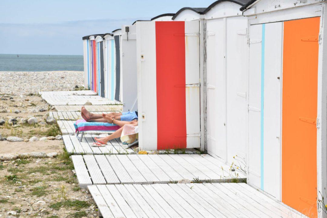Jeu de jambes sur la plage du Havre