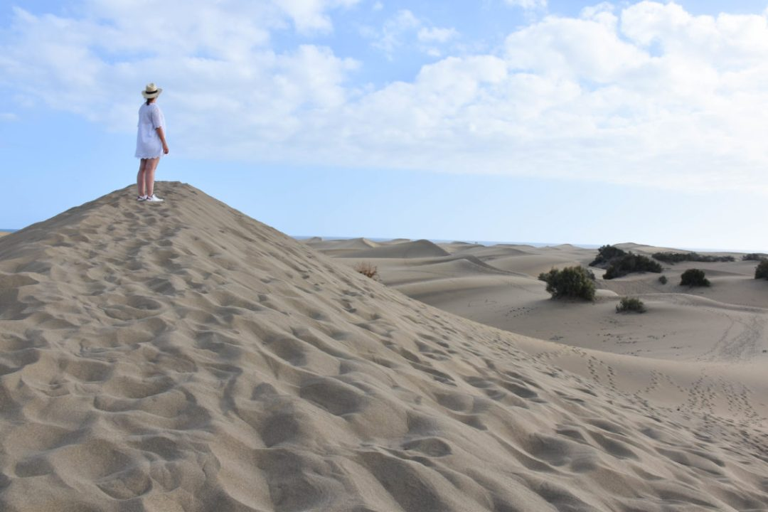 Dunes de sable à Gran Canaria, iles des canaries