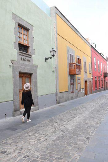 Maisons colorées de Las Palmas à Gran Canaria