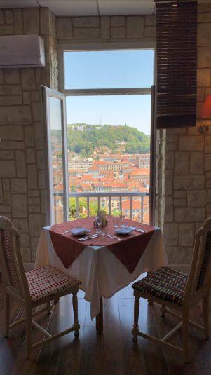 Vue depuis le restaurant la Meuse gourmande de Bar le Duc