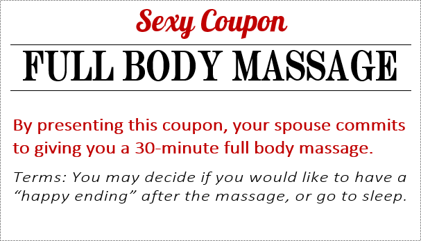 erotic sex coupon ideas