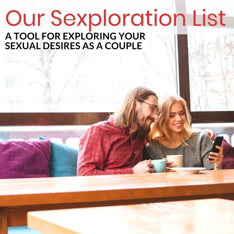 Our Sexploration List - A printable resources to help you communicate about your sexual desires for positions, activities and more