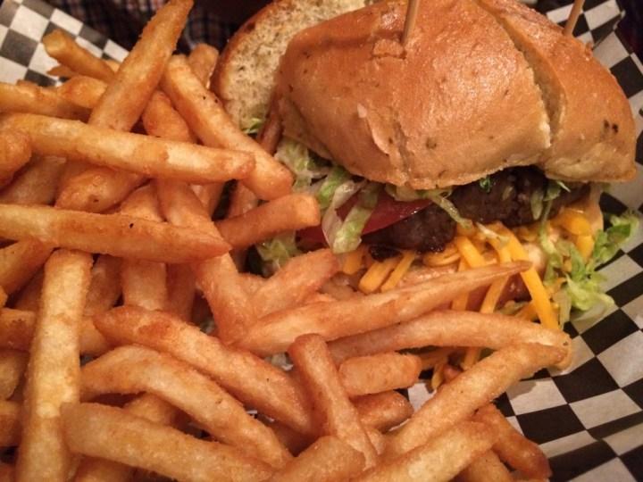Burger and Fires at Deep Deuce Grill