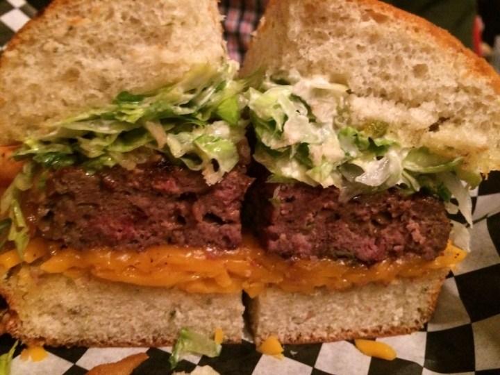 Tres Chili Burger at Deep Deuce Grill