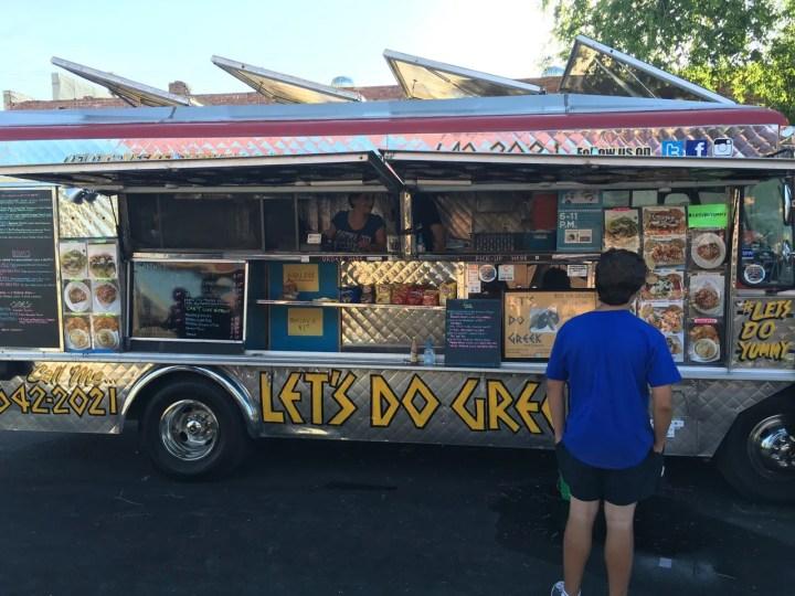 Let's Do Greek Food Truck at  Delmar Gardens - photo by Dennis Spielman