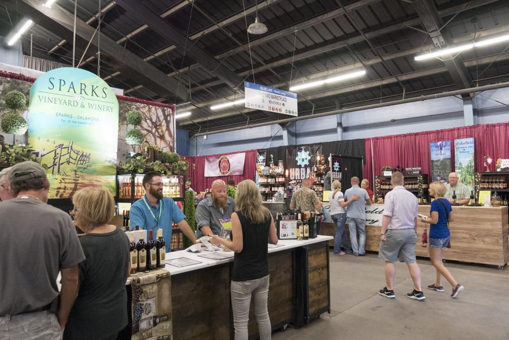 Wine at the Oklahoma Expo Hall