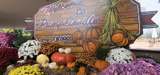 Welcome to Pumpkinville sign - photo by Dennis Spielman