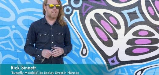 Rick Sinnett's Butterfly Mandala mural