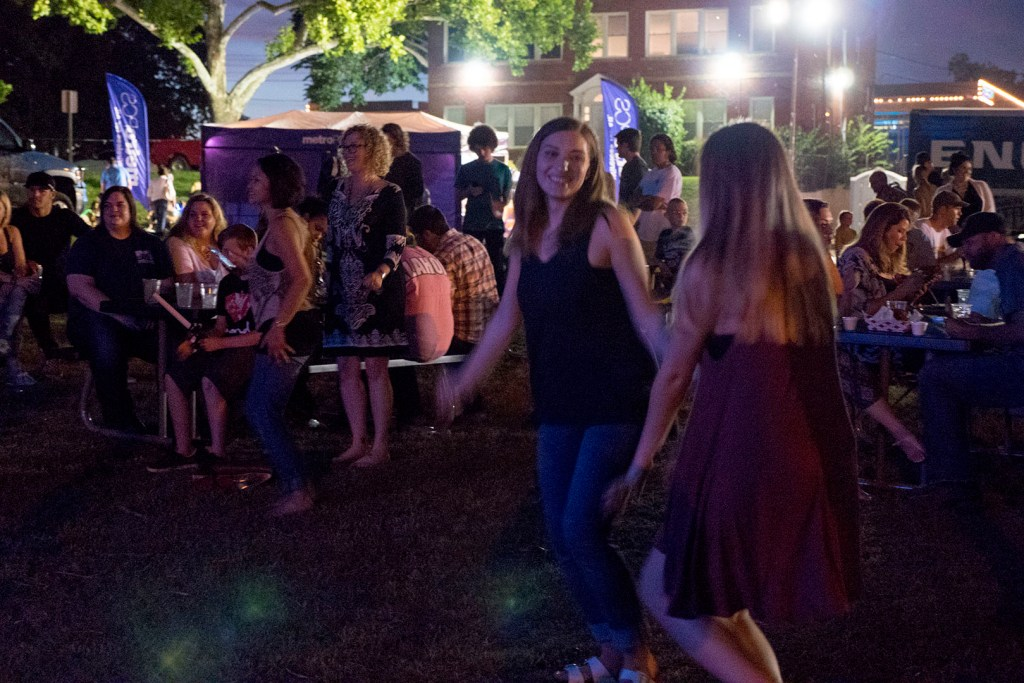 Live music at H&8th Night Market - photo by Dennis Spielman