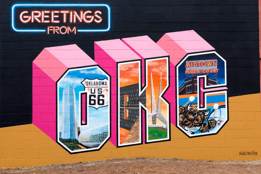 Greetings from OKC Mural - photo by Dennis Spielman
