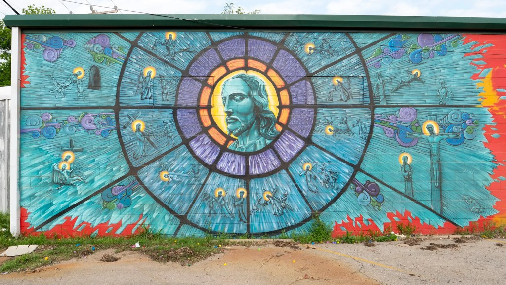 Mural by Jeremiah Lovato - photo by Dennis Spielman