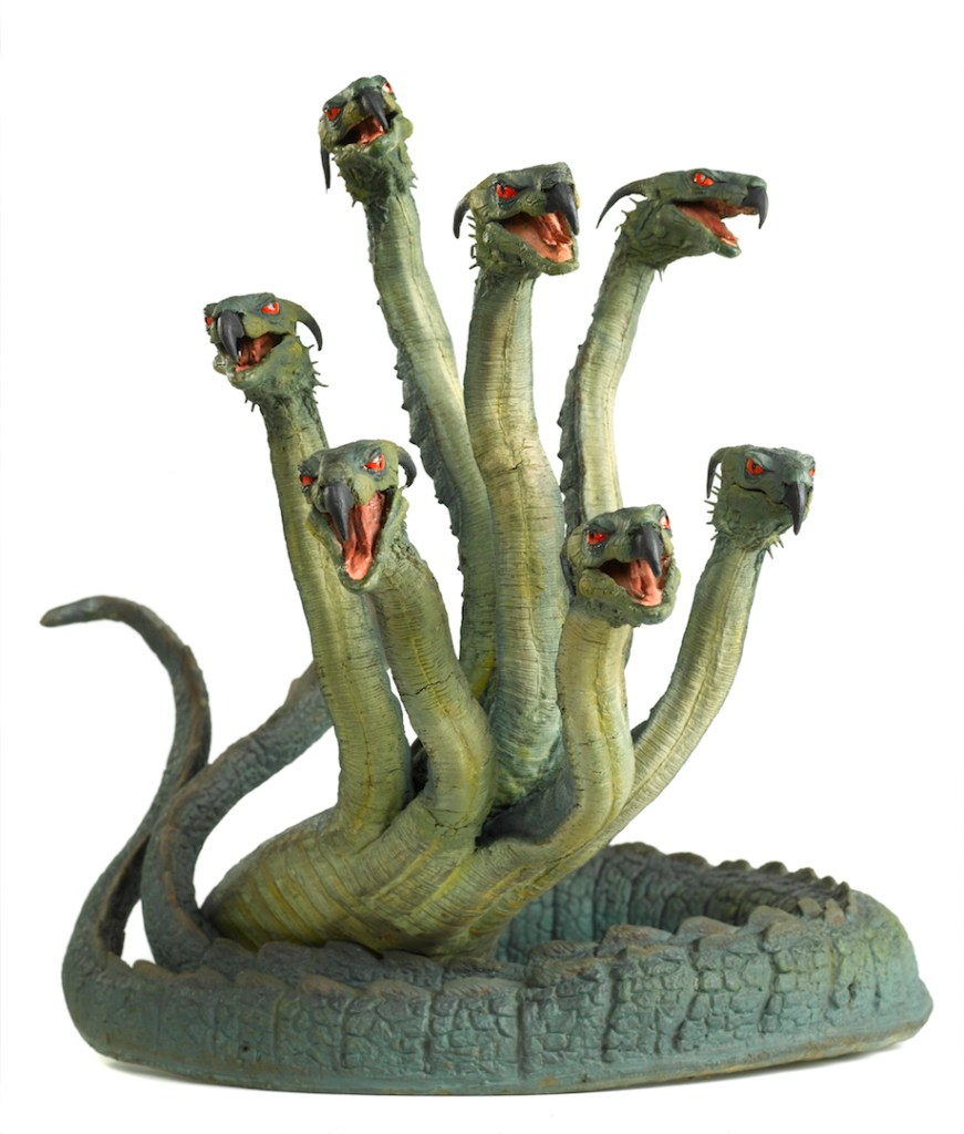 "Ray Harryhausen's Hydra from the 1963 film ""Jason and the Argonauts."" Photo by Andy Johnson for The Ray and Diana Harryhausen Foundation."