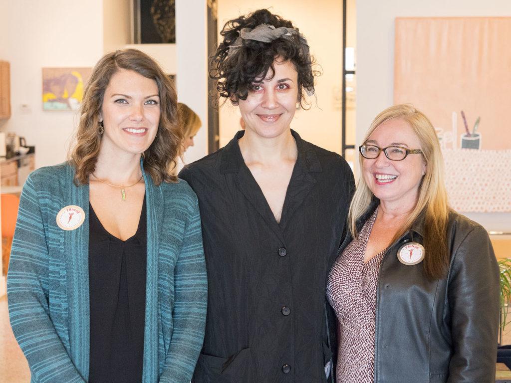 Sarah Day-Short, Alexis Austin, and Debra Ashley at Chromatic Ritual