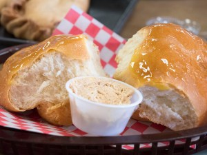 The Rolls with their special Butter at Jimmy's Round-Up Cafe - photo by Dennis Spielman