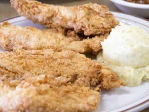 Chicken Tenders at Jimmy's Round-Up Cafe - photo by Dennis Spielman