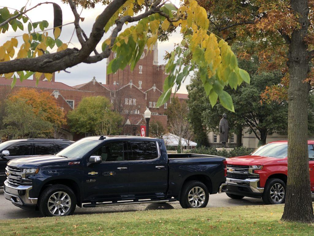 2019 Chevy Silverado at OU - photo by Dennis Spielman