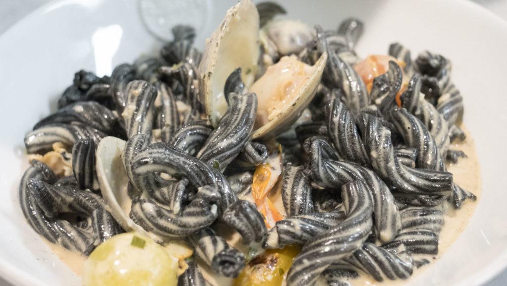 Squid Ink Garganelli at Osteria - photo by Dennis Spielman
