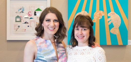 Kerri Shadid and Caroline Cohenour at Color Menagerie - photo by Dennis Spielman