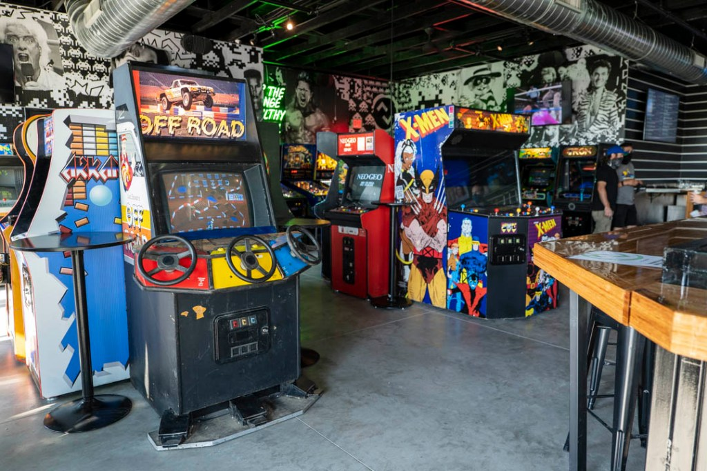 A selection of arcade games on the second story of Up-Down in Oklahoma City