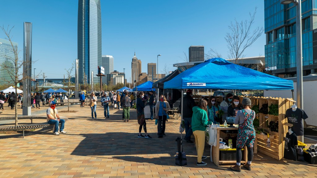 Farmers Market at Scissortail Park - photo by Dennis Spielman