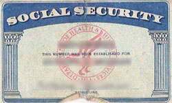 social security card example