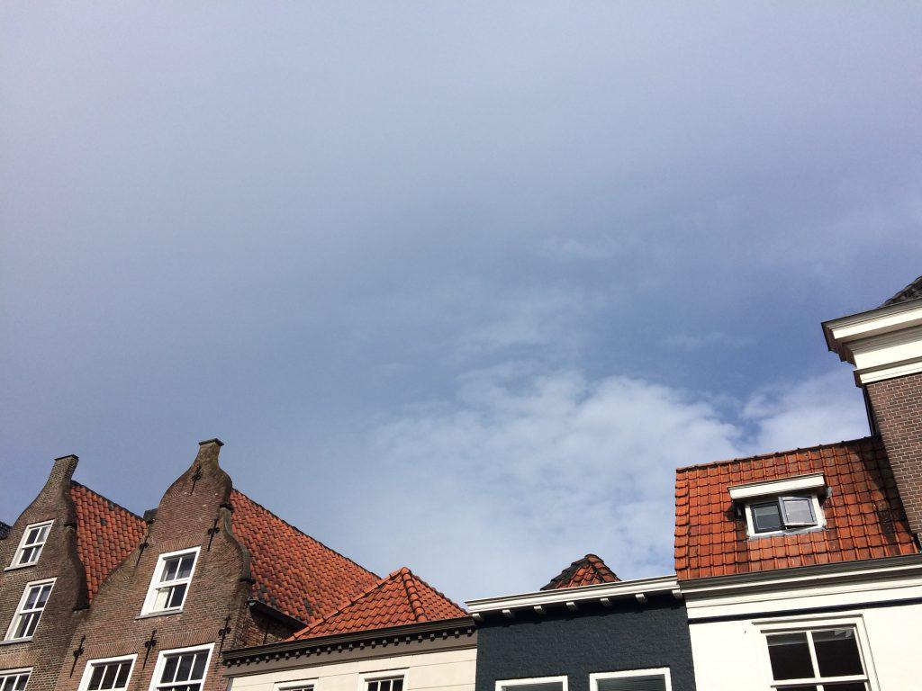 2016 Rückweg Maas blauer Himmel Grave
