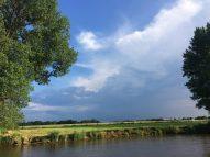 2016 Rückweg Maas Mittwoch blauer Himmel