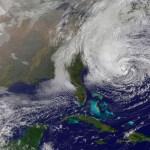 Hurricane Sandy satellite image