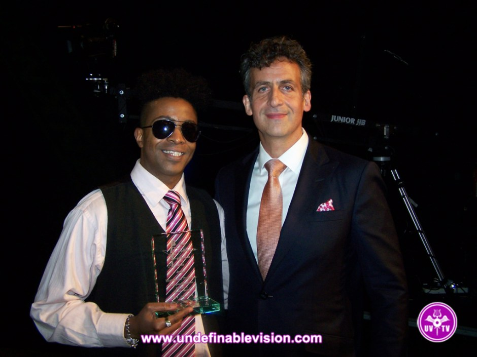 Undefinable Vision Executive Producer & Winner of Best Music Program Tabou TMF aka Undefinable One with Bronxnet Executive Director Michael Max Knobbe