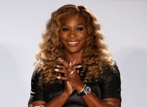 Serena Williams at her HSN Signature Statement Collection Fashion Show