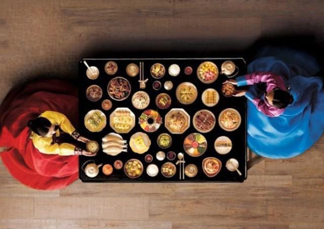 Table repas cuisine coreenne