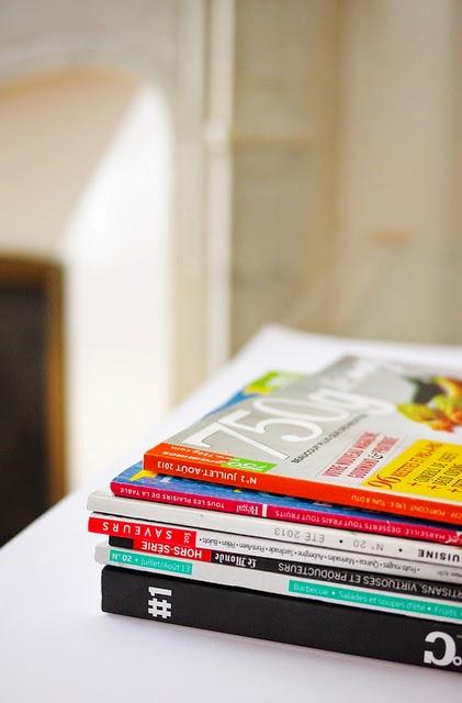Magazines de cuisine : Regal, Saveurs, 750g Le mag, 180°C, A table, Jamie...