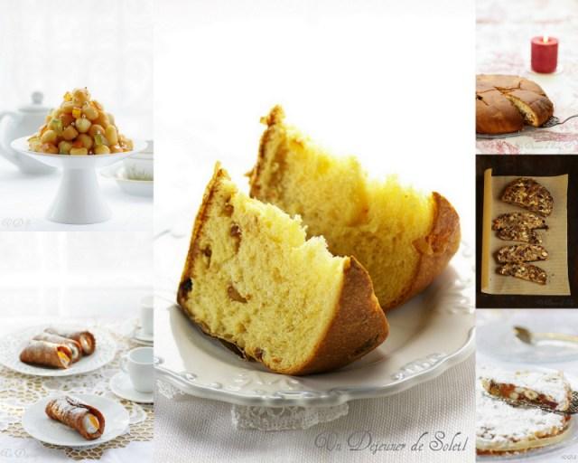 Desserts italiens de Noël : panettone, panforte, pangiallo....