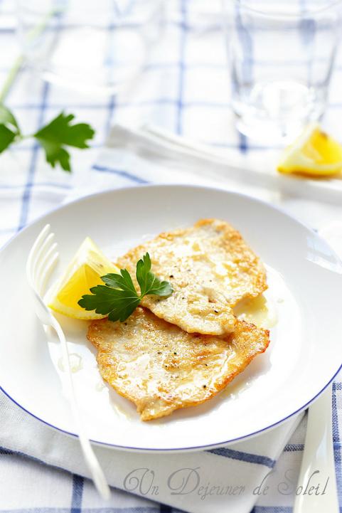 Piccata de veau (scaloppine al limone) comme en Italie