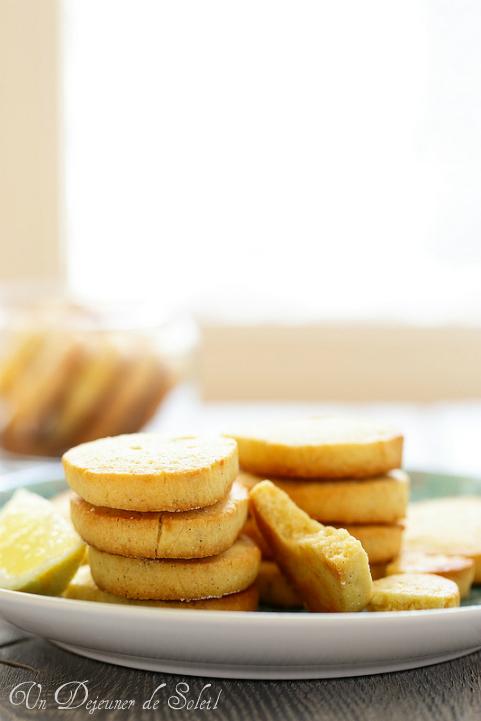 Sablés au citron - Lemon meltaways