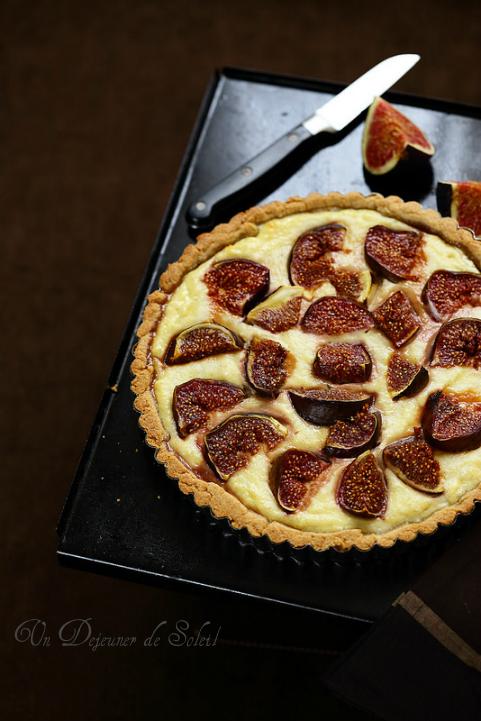 Tarte figues ricotta vanille - Figs and ricotta tart