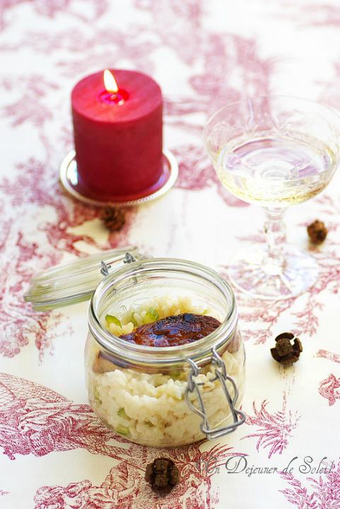 Risotto parmesan et escalopes de foie gras