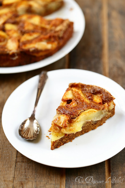 Gâteau aux pommes sans beurre typique de l'Émilie Romagne